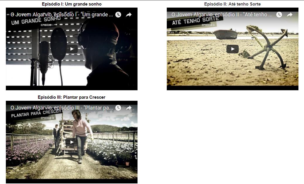 Documentário O Jovem Algarvio